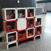 Librerie MoreLight in cartone by Lessmore per la Book Fly Zone di Malpensa e Linate