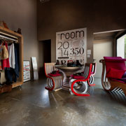 Ecodesign Collection Lessmore di Giorgio Caporaso a The Room Milano: mobili sostenibili in cartone
