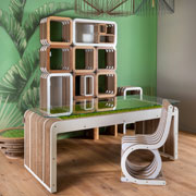 MorePlus-Desk- cardboard desk with moss by Giorgio Caporaso for Lessmore